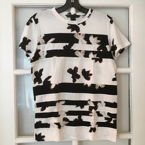 Marc by Marc Jacobs striped floral t-shirt